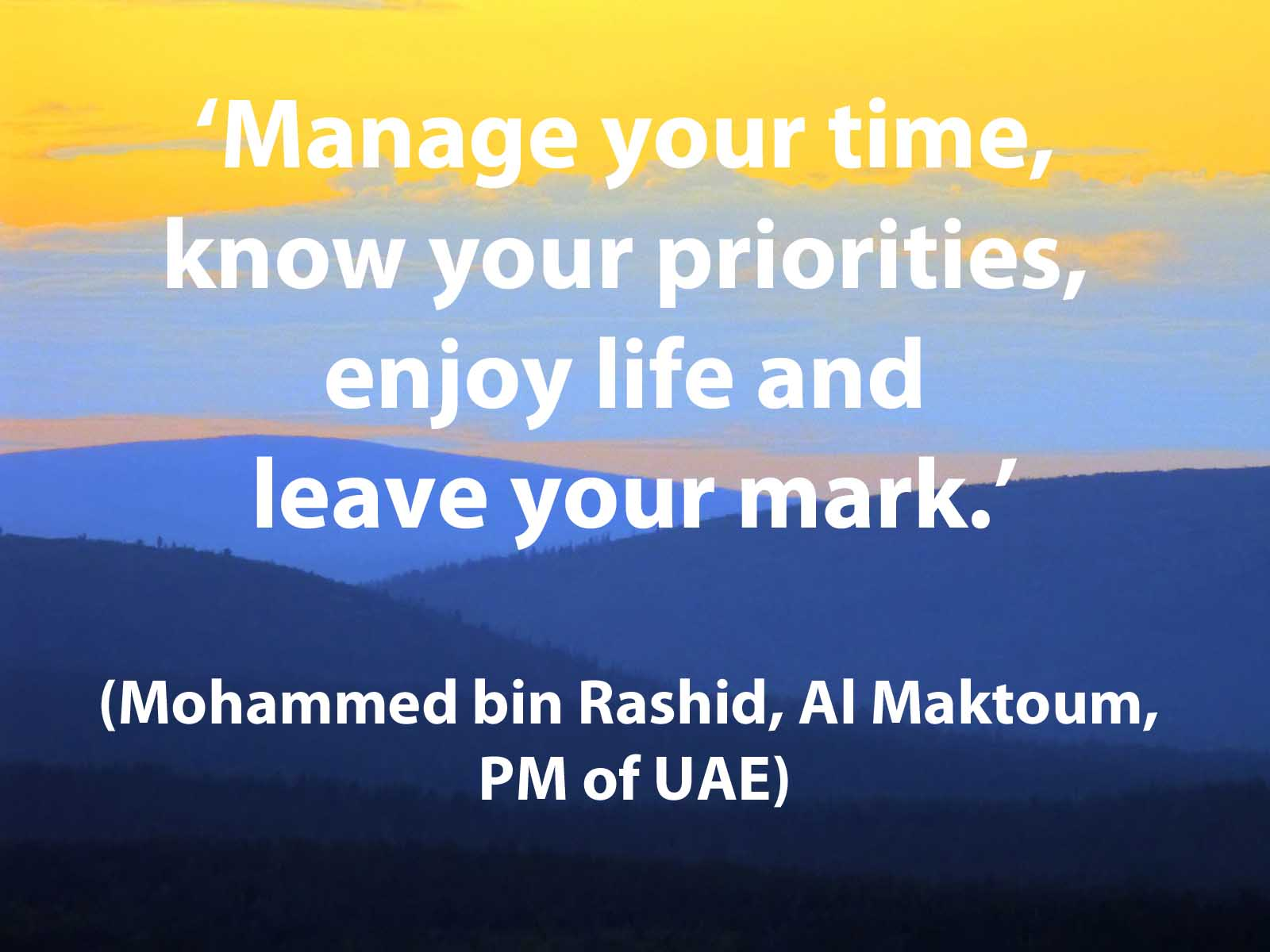 Mohammed bin Rashid quote