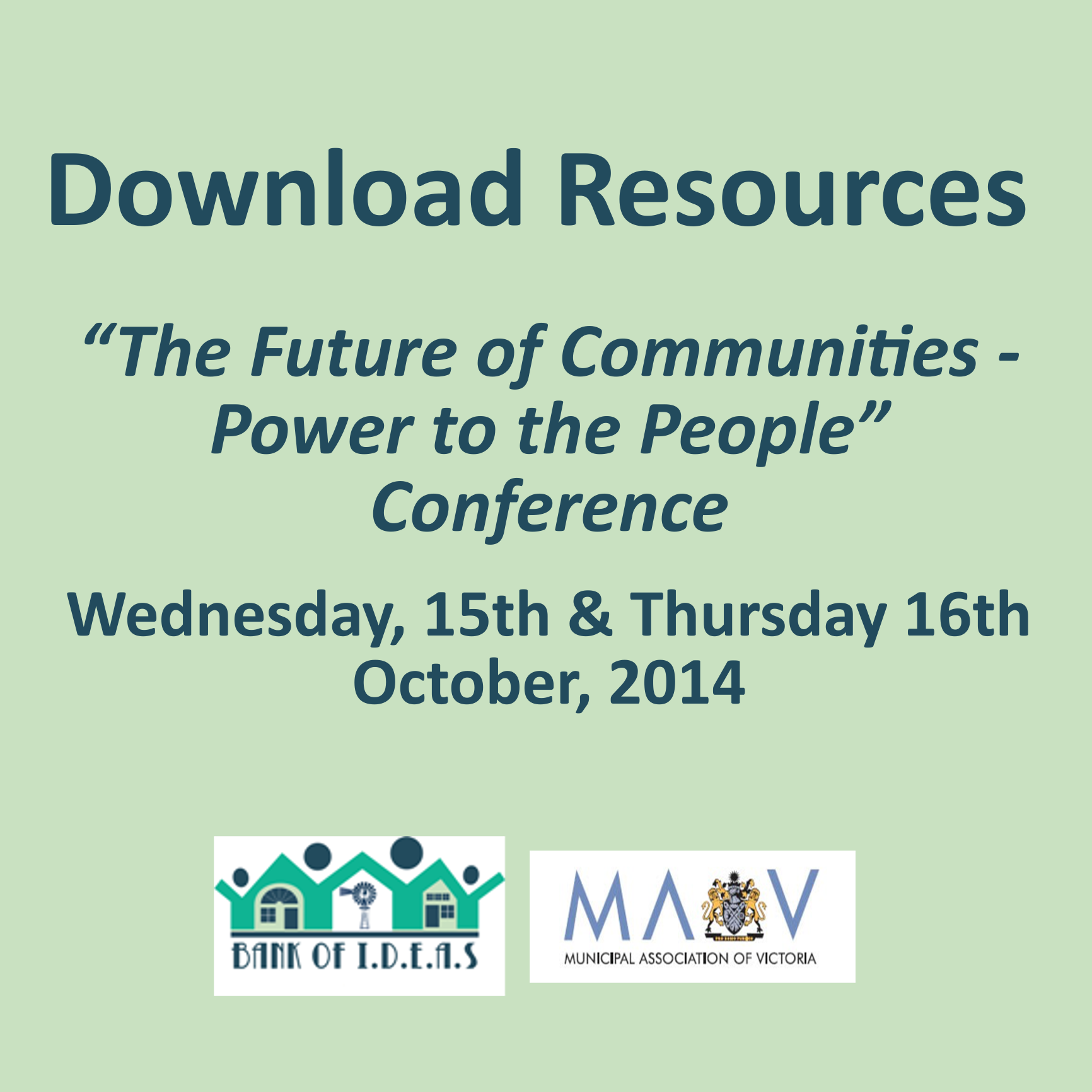 The Future of Communites – Power to the People Conference